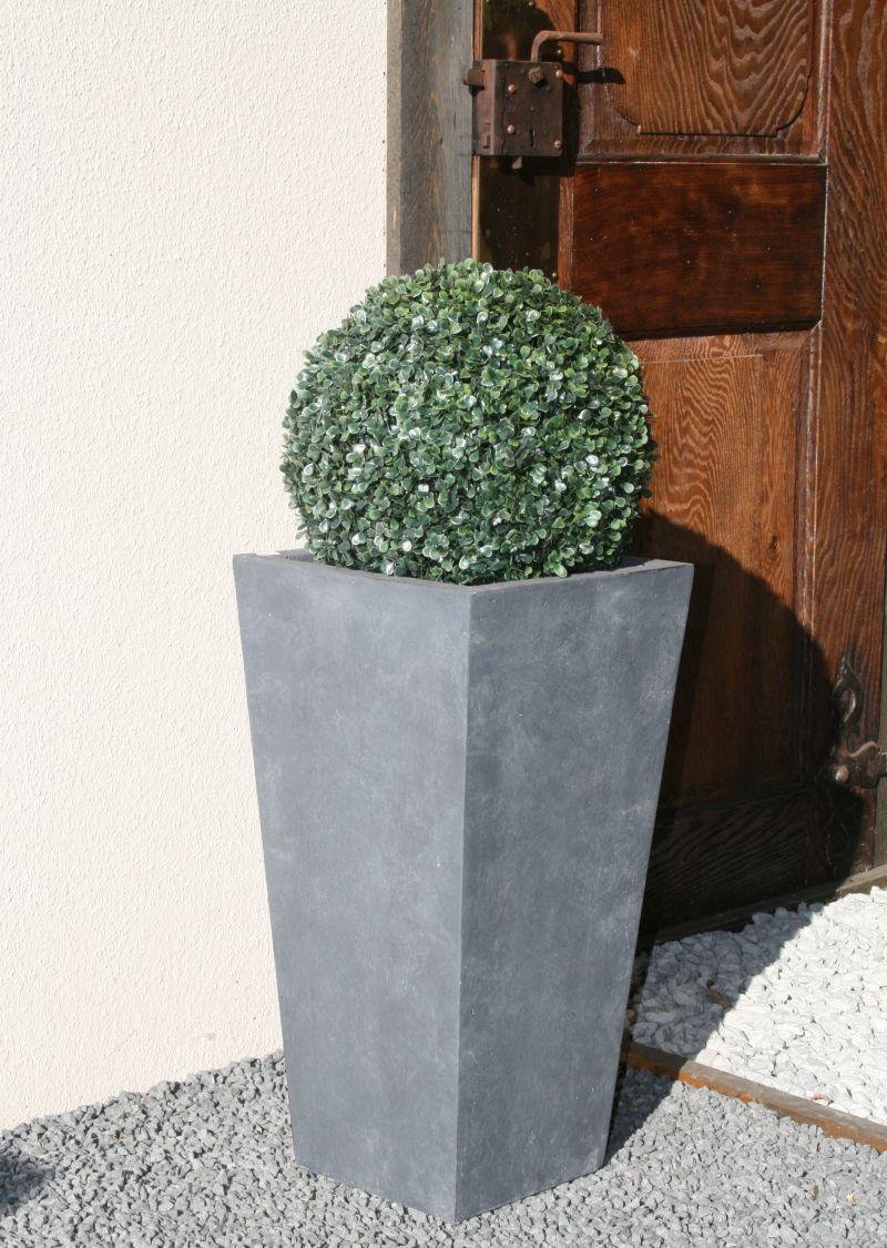 fiberglas blumenkübel pflanzkübel konisch grau h = 61,5 cm (nr.