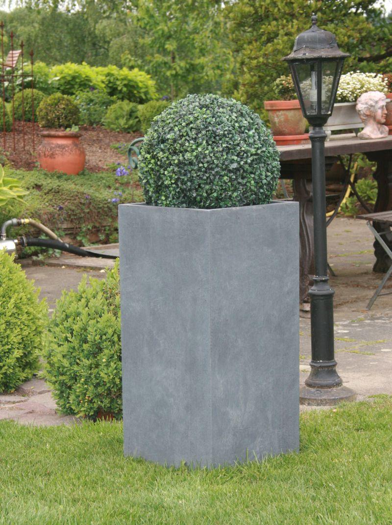 fiberglas blumenk bel pflanzk bel s ule grau nr 2184 ebay. Black Bedroom Furniture Sets. Home Design Ideas