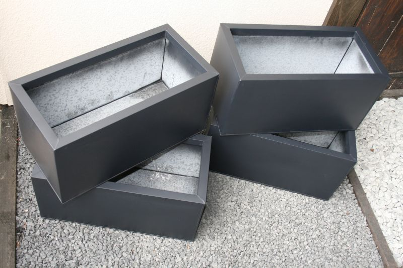blumenk bel pflanztrog blumenkasten verzinkt ebay. Black Bedroom Furniture Sets. Home Design Ideas